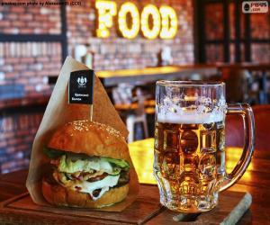 Burger und Bier puzzle