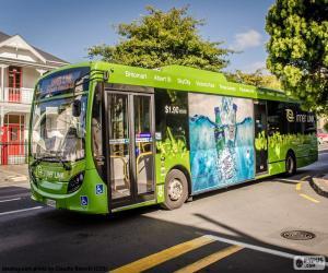 Bus von Auckland, Neuseeland puzzle