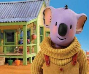 Buster ist eine der Koala Brüder leben lustige Abenteuer in der australischen Wüste, Die Koala Brüder puzzle