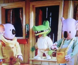 Buster und Frank mit seinem Freund Archie das Krokodil puzzle