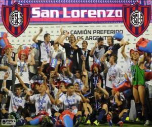 CA San Lorenzo de Almagro, Meister der Torneo Inicial 2013, Argentinien puzzle