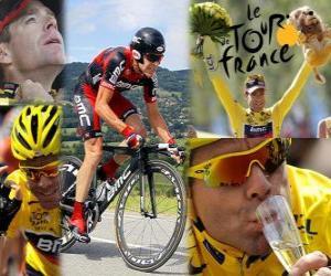 Cadel Evans 2011 Tour de France-Champion puzzle