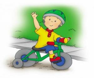 Caillou, fahrrad fahren puzzle