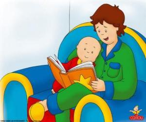 Caillou liest ein Buch mit seinem Vater puzzle