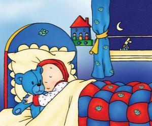 Caillou schlafen puzzle
