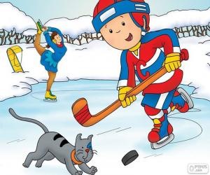 Caillou und Gilbert, Eishockey puzzle