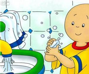 Caillou wäscht seine Hände puzzle