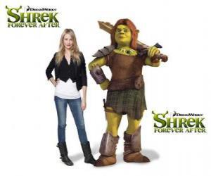 Cameron Diaz sieht die Stimme von Fiona, der Krieger, in der neueste Film Für immer Shrek puzzle