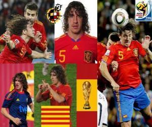 Carles Puyol (Der Kopf von Spanien) spanische Team Verteidigung puzzle