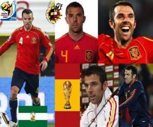 Carlos Marchena (Die unbesiegbare) spanische Team Verteidigung puzzle
