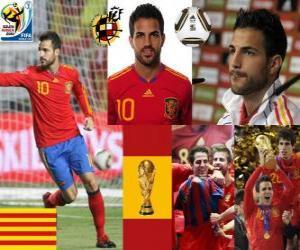 Cesc Fàbregas (Barcelona ist die Zukunft) Spanish National Team Mittelfeldspieler puzzle
