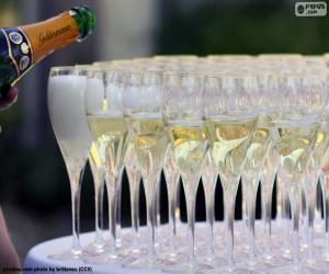 Champagnerglas puzzle