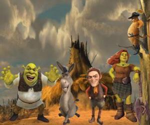 Characters, in der neueste Film Für immer Shrek puzzle