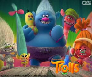 Charaktere der Trolls puzzle