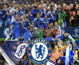 Chelsea FC, der 2011-2012 UEFA Championsleague champion puzzle