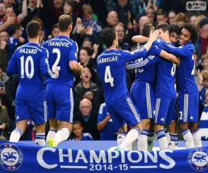 Chelsea FC Meister 2014-15 puzzle