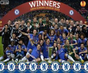 Chelsea FC, meister UEFA Europa League 2012-2013 puzzle