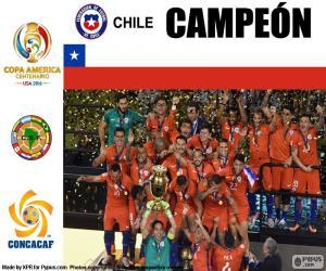 Chile, Champion Copa America 2016 puzzle