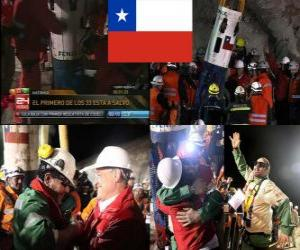 Chilenischen Bergleute retten Happy End puzzle