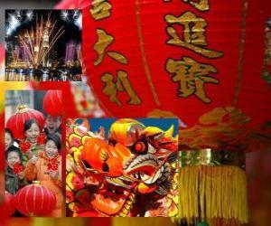 Chinesische Neujahrsfest puzzle