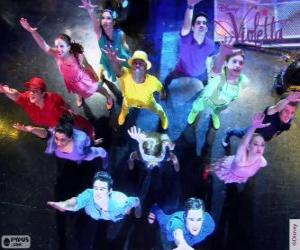 Choreographie in Viloetta puzzle