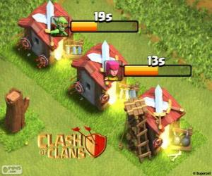 Clash of Clans der Kaserne puzzle