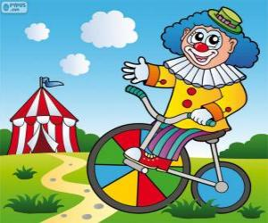 Clown ein Fahrrad puzzle
