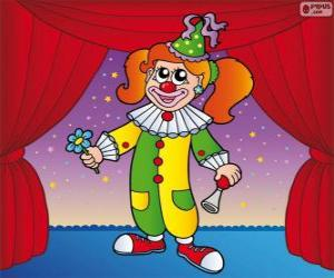 Clown-Frau puzzle
