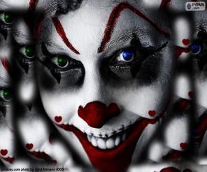 Clown Halloween puzzle
