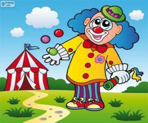 Clown Jongleur puzzle