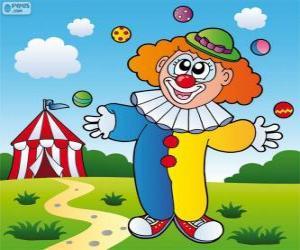 Clown Jonglieren puzzle