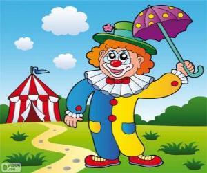 Clown mit Schirm puzzle