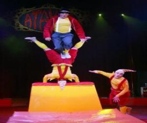 Clowns, Akrobaten puzzle