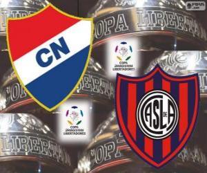 Club Nacional von Paraguay Vs San Lorenzo de Almagro von Argentinien. Final Copa Libertadores 2014 puzzle
