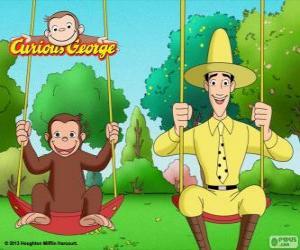 Coco der Affe mit seinem Freund Ted, der Mann in der gelben Mütze puzzle