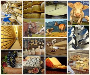 Collage aus Käse puzzle
