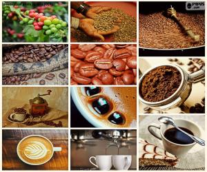 Collage von Kaffee puzzle
