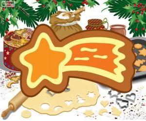 Cookie als ein Weihnachtsstern puzzle