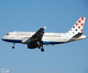 Croatia Airlines, die nationale Fluggesellschaft von Kroatien puzzle