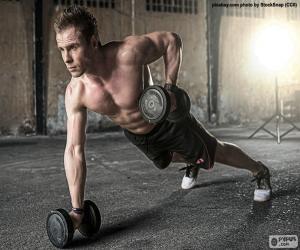 CrossFit mit Gewichten puzzle