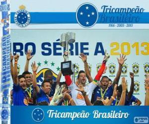 Cruzeiro, Meister der brasilianischen Fußball-Meisterschaft im Jahr 2013. Brasileirão 2013 puzzle