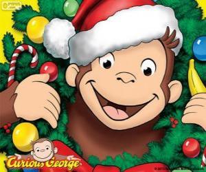 Curious George zu Weihnachten puzzle