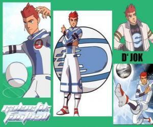 D'jok ist der Star-Spieler des Snow Kids hat sich die Zahl 9 puzzle