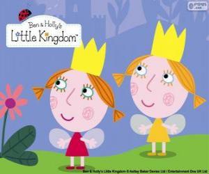 Daisy und Poppy, die Zwillinge feen, die kleinen Schwestern von Holly puzzle