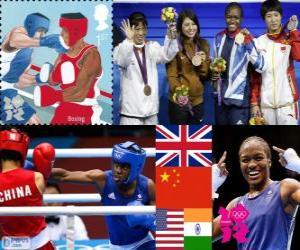 Damen Fliegengewicht Boxen London 2012 puzzle