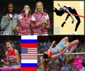 Damen Hochsprung Leichtathletik London 2012 puzzle