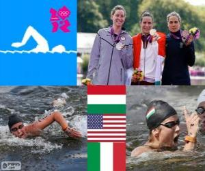 Damen Marathon 10km Schwimmen LDN 2012 puzzle