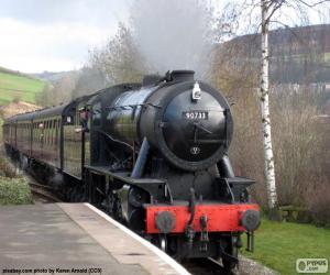 Dampflokomotive puzzle