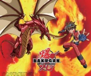 Dan Kuso und seine Bakugan Pyrus Drago Vormund puzzle