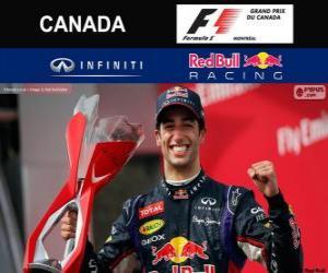 Daniel Ricciardo feiert seinen Sieg in der Grand Prix von Kanada 2014 puzzle
